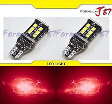 LED Light Canbus Error Free 912 Red Two Bulbs Trunk Backup Reverse Dome Brake