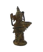 Lord Ganesha Ganesh Vintage Antique Handmade Brass Figure Idol statue Home Decor