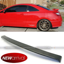 JDM Carbon Fiber Rear Roof Wing Spoiler Visor Make For 06-10 Honda Civic 2DR