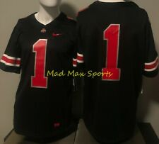 OHIO STATE BUCKEYES Nike ICON Black OUT #1 NCAA Football GAME Jersey Size L