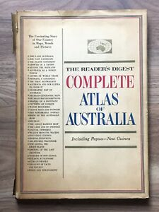 Reader's Digest COMPLETE ATLAS of Australia Incl Poster and inserts, HC 1968