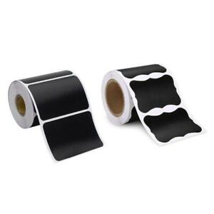 150pcs/roll Blank Chalkboard Labels Removable Sticker for Kitchen Canning Mason