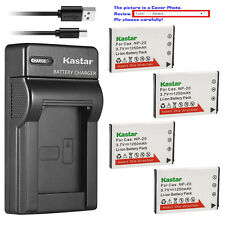 Kastar Battery Slim Charger for Casio NP-20 BC-11L & Casio Exilim EX-M20 EX-S1