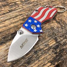 "American Flag Folding Knife Keychain Mini 1.4"" Blade Pocket Knife C"