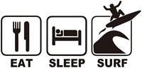 EAT SLEEP SURF DUB LIFE STICKER VINYL DECAL VW GOLF T6 T5 T4 CAMPER SURF