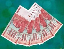 5 x 20 Trillion Dollars Zimbabwe Banknotes Authentic UNC AA 2008 = 100 Trillion