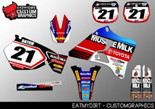 YAMAHA YZ 125 250 96 - 01 COMPLETO CUSTOM KIT Grafiche Adesivi Decalcomanie Motocross MX