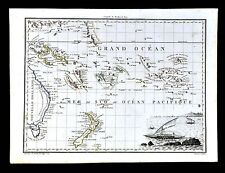 1812 Malte Brun Lapie Map - South Pacific Islands New Zealand Australia Oceania