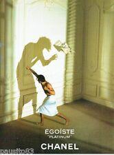 PUBLICITE ADVERTISING 116  1997  Chanel eau toilette homme Platinium  Egoiste