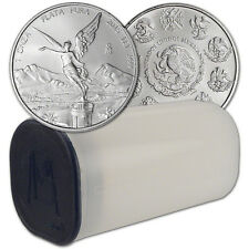 2015 Mexico Silver Libertad (1 oz) 1 Onza - 1 Roll - Twenty-Five 25 BU Coins