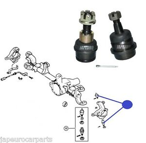 FOR JEEP GRAND CHEROKEE UPPER & LOWER KNUCKLE ARM BALL JOINT FRONT x2