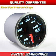 Universal 2'' 52mm 7 Color LED Electronic 140PSI Fuel Pressure Gauge with Sensor