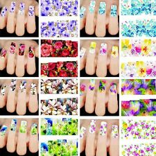 50 Sheets 3D Design Nail Art Sticker Tips Decal Flower Water Transfer Manicure