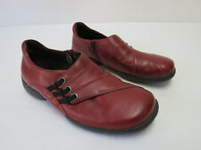 Lovely and Comfy ZIERA Red Loafer style ZIP SIDE Shoes Sz 35 XW NEW