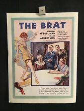 ORIG Adv 1929 The Brat ERROR Trade Ad Movie Poster Myrna Loy Maureen O'Sullivan