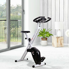 Manual Exercise Bike LCD Monitor Adjustable Tension Padded Seat Heart Rate