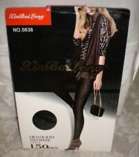 XIN BAI LONG Black High Quality Pantyhose Sz M Style 150DEN