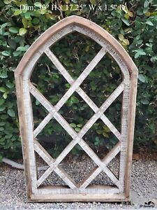 """30"""" Udito Farmhouse Arched Wood, Cathedral Window, Gothic Frame"""