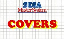 Sega Master System Remplacement Box Art Case Insert Cover - High Quality