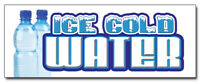 """24"""" ICE COLD WATER DECAL sticker bottled water stand cart supplies trailer"""