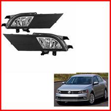 For 2015-2017 Vw Jetta Bumper Fog Lights Driving Lamps Assembly Kit Oe Harness