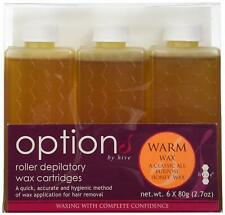 Hive Options Classic Warm Honey Wax Roller Depilatory Wax Cartridges - 80g- 6x