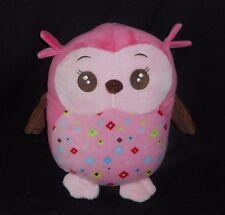 "12"" BABIES R US BABY PINK OWL SOFT PILLOW STUFFED ANIMAL PLUSH TOY ROOM DECOR"