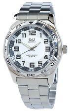 Q & Q by citizen reloj hombre blanco plata analógico metal cuarzo d-50742428556999