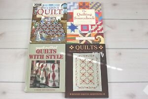 Lot 4 How To Books Quilting Patchwork Sourcebook Patterns Quilt Making Guide