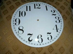 """Round PAPER (CARD) Clock Dial - 8"""" MINUTE TRACK - ARABIC -  GLOSS WHITE - Parts"""