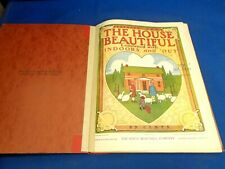 FEBRUARY - MARCH - DECEMBER 1908 THE HOUSE BEAUTIFUL MAGAZINE BOUND IN FOLDER