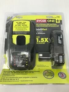 Ryobi P163 18V One+ Lithium Ion 2Ah Battery and Charger N