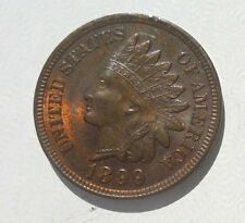 US Indian Head penny coin 1899 AU