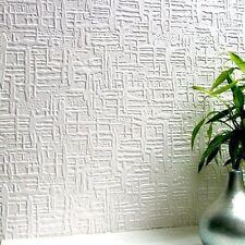 Anaglypta Edward Wallpaper White Textured Paintable Supaglypta RD0602 X2