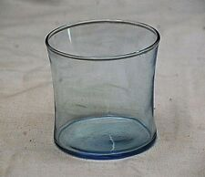 "Vintage Style Light Blue Drinking Glass Glassware 3-1/4"" Tall"