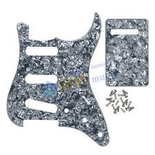 FENDER STRAT guitare électrique SSS pickguard et plaque arrière 4PLY gris perle