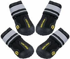 """New listing Dog Boots Waterproof Shoes for Dogs with size 7: 3.1""""x2.7""""(L*W) Black"""