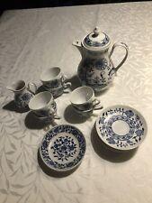 Zwiebelmuster Henriette Czechos. 1 Café Can, 6 Moc Cups/sources, 3petitf 1milkca