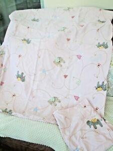 IKEA TODDLER BABY GIRL PINK ELEPHANT COTTON CRIB DUVET COVER & PILLOW CASE