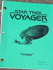 STAR Trek VOYAGER  TV SERIES SHOW SCRIPT EPISODE LINEAGE