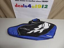 Wilson Us Open Tennis Bag Blue Black Very Good Pre Owned Condition!