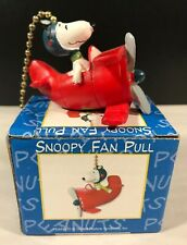 Snoopy Flying Ace fan pull Chain Vintage Lamp Chain Peanuts Airplane RC4293 (K)
