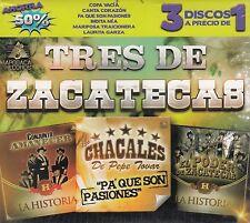 Conjunto Amanecer,Los Chacales de Pepe tovar,El Poder de Zacatecas Box set 3CD