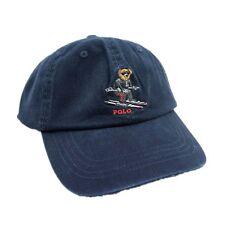 Polo Style Blue Baseball Cap Sports Hat Bear Skating Unisex Golf Sunhat 84