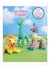 """Kwik Sew Sewing Pattern K211 Soft Stuffed Animal Toys Giraffe Zebra Lion 7-10"""""""