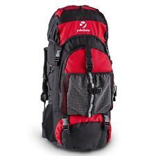 Zaino Trekking Escursione Campeggio Scout Tasche Impermeabile Imbottito Rosso