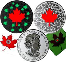 2018 Hearts Aglow $5 Pure Silver Glow-in-Dark Coin Canada