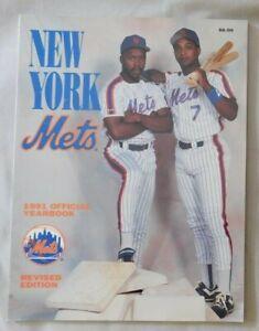 1991 New York Mets Yearbook - Vince Coleman Hubie Brooks