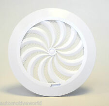 """Circle Air Vent Grille 100mm 4"""" with Shutter Round Ducting Ventilation Cover T95"""