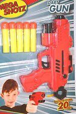 MEGA Shotz RICARICA Proiettile Pistola a dardi freccette flessibile BAMBINI PISTOLA GIOCATTOLO REGALO DIVERTENTE MORBIDI